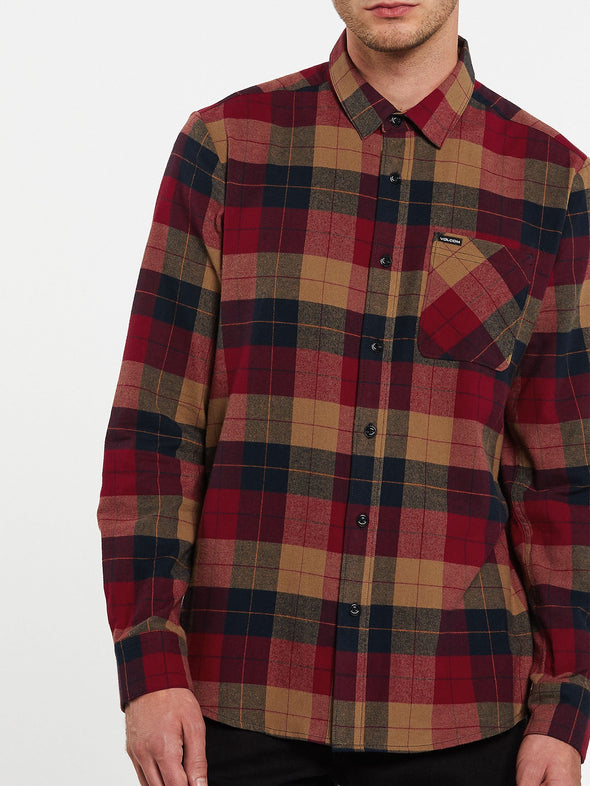 Volcom Mens Caden Plaid Long Sleeve Flannel - The Smooth Shop