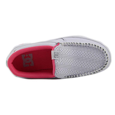 DC Shoes Girls Villain Shoes ADGS100078,White/Pink,1 - The Smooth Shop