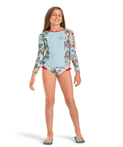 Roxy Girls Heritage Floral Long Sleeve UPF 50 Rashguard - The Smooth Shop