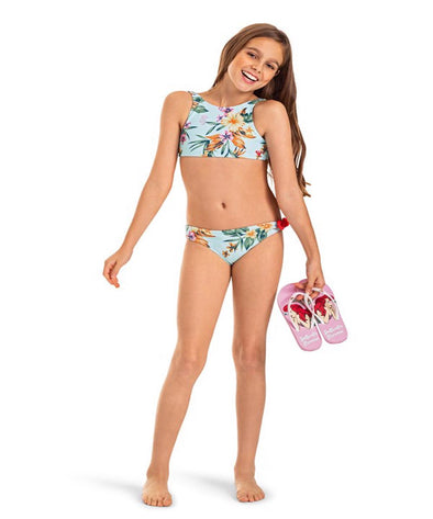 Roxy Girls Heritage Floral Crop Top Bikini Set - The Smooth Shop