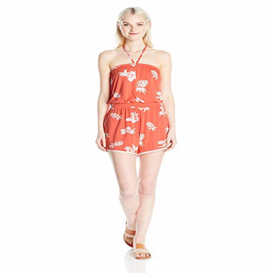 Volcom Womens Pine For Me Romper B2811702,Pistol Punch,L - The Smooth Shop