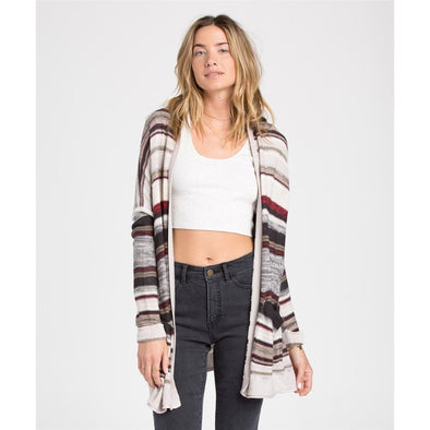 Billabong Womens Outside Lines Stripe Cardigan JV05DOUT - The Smooth Shop