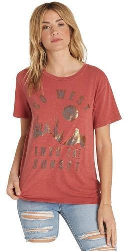 Billabong Womens Sunset In The West T-Shirt J467MSUN - The Smooth Shop