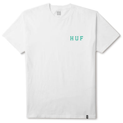 Huf Mens Blur Classic H T-Shirt TS00141, White, S - The Smooth Shop