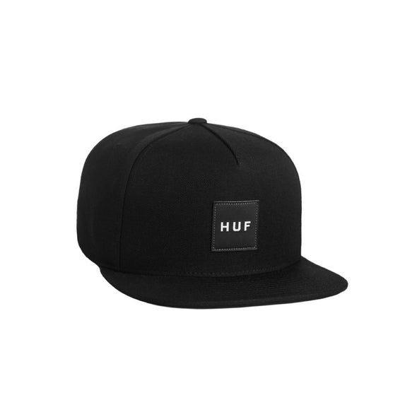 Huf Mens Box Logo Snapback Hat HTBSC0085, Charcoal, OFA - The Smooth Shop