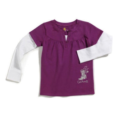 Carhartt CA9011 Toddler Girl's Cowgirl Layered Tee - The Smooth Shop