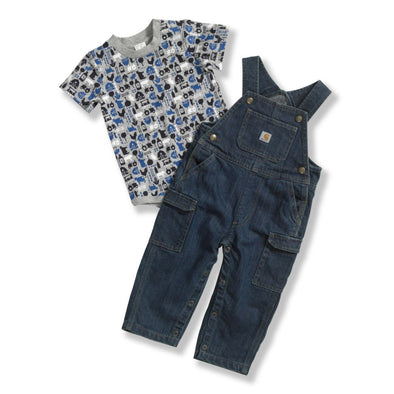Carhartt CG8590 Infant Washed Denim Bib Overall Set - The Smooth Shop