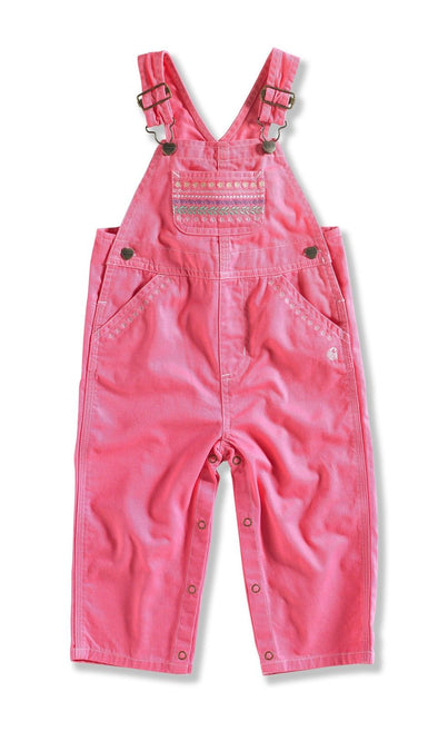 Carhartt CM9622 Infant Girl's Twill Bib Overall, Camellia Rose, 4T - The Smooth Shop