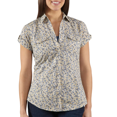 Carhartt Womens Short Sleeve Printed Camp Shirt WS036 - The Smooth Shop