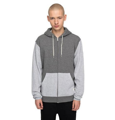 DC Shoes Mens Rebel Contrast Zipped Hoodie EDYFT03341 - The Smooth Shop