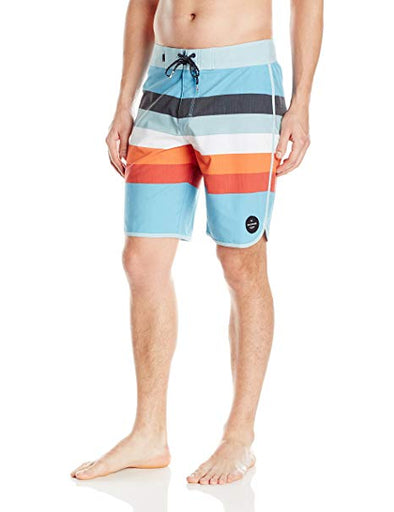 "Quiksilver Mens Seasons Scallop 20"" Boardshorts EQYBS03615,Angel Falls,40 - The Smooth Shop"