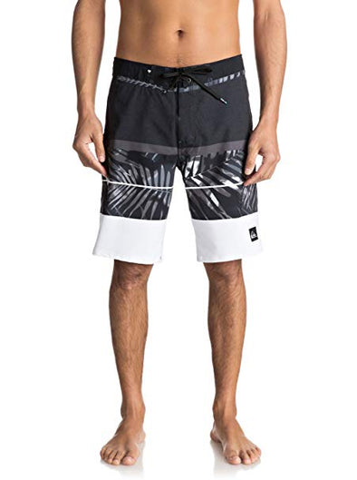 Quiksilver Men's Slab Print 20 Boardshort, Black, 31 - The Smooth Shop