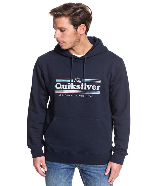 Quiksilver Mens Get Buzzy Hoodie, Sky Captain, XXL - The Smooth Shop