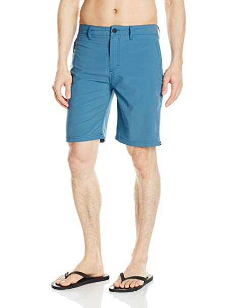 "Quiksilver Men Twill Amphibian 20"" Boardshorts EQYWS03370,Indian Teal,44 - The Smooth Shop"