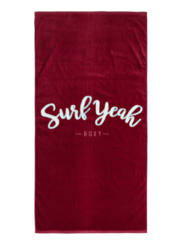 Roxy Womens Pretty Simple Logo Beach Towel ERJAA03437 - The Smooth Shop