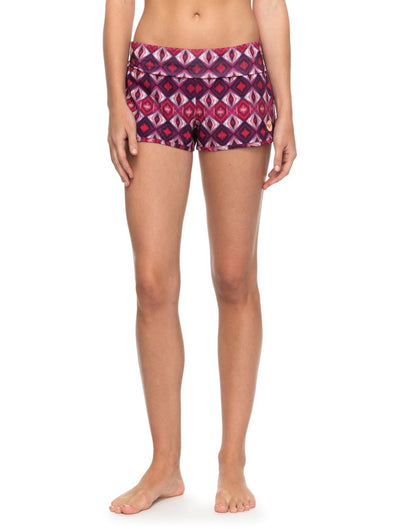 "Roxy Womens Endless Summer 2"" Boardshorts ERJBS03070,Grape Wine Gerona,M - The Smooth Shop"