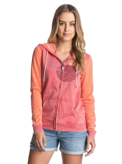 Roxy Womens Tropical Bazaar B Zip-Front Hoodie - The Smooth Shop