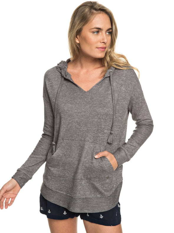 Roxy Womens Cozy Chill Long Sleeve Hooded Lounge Top ERJKT03408 - The Smooth Shop