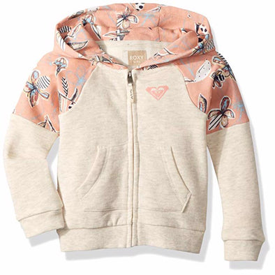 Roxy Girls Sky & Sand Zip Up Fleece Sweatshirt ERLFT03156 - The Smooth Shop