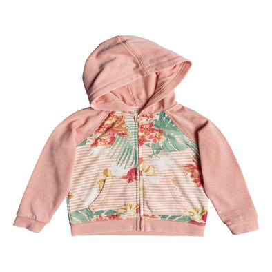 Roxy Girls Banana Pancakes Zip Up Hoodie, Tropical Peach Uluwa, 3 - The Smooth Shop