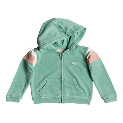 Roxy Girls Beach In Hawaii Sunshine Society Zip Up Hoodie, Feldspar, 6 - The Smooth Shop