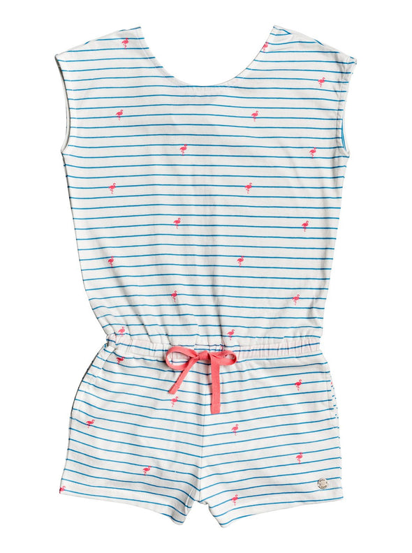 Roxy Girls 2-7 Sleeping Ocean Open Back Sleeveless Romper - The Smooth Shop