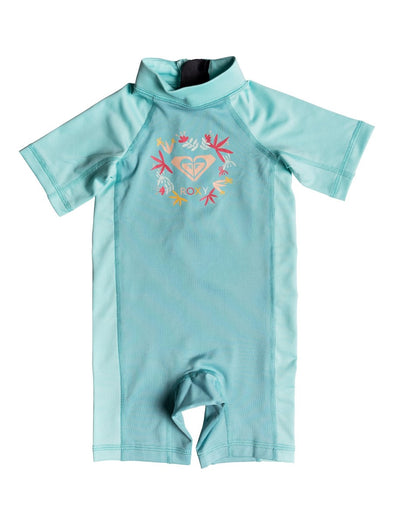 Roxy Baby Girls Springsuit Short Sleeve One Piece UPF 50 Rashguard ERNWR03011 - The Smooth Shop