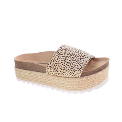 Dirty Laundry Womens Pippa Cheetah Sandals - The Smooth Shop