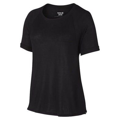 Hurley Womens Solid Raglan Short Sleeve T-Shirt GTS0006140 - The Smooth Shop