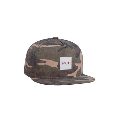 Huf Mens Ripstop Box Logo Snapback Hat HT00230 - The Smooth Shop
