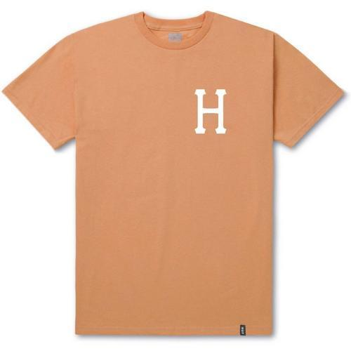 Huf Mens Classic H T-Shirt TS00339, Peach, XL - The Smooth Shop
