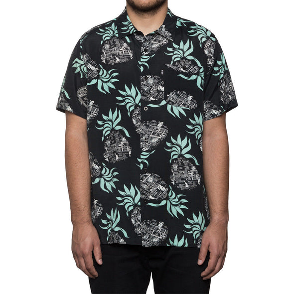 Huf Mens Fantasy Island Short Sleeve Shirt BU61011 - The Smooth Shop