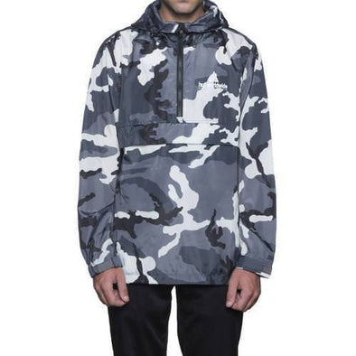 Huf Mens Peak Anorak Jacket JK00079, White/Camo, M - The Smooth Shop