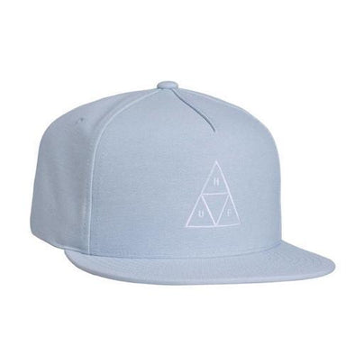 Huf Mens Triple Triangle Snapback Hat HT00197, Blue, OFA - The Smooth Shop