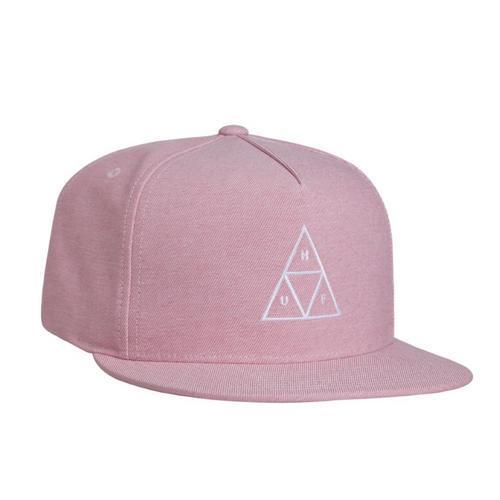 Huf Mens Triple Triangle Snapback Hat HT00197, Nautical Red, OFA - The Smooth Shop