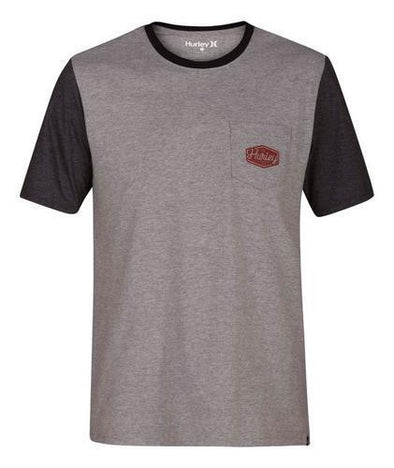 Hurley Mens Blocked Pocket T-Shirt AA5334 - The Smooth Shop