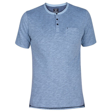 Hurley Mens Dri Fit Lagos Henley Short Sleeve T-Shirt - The Smooth Shop