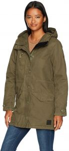 RVCA Womens Ground Control Sherpa Jacket WL705GRC - The Smooth Shop