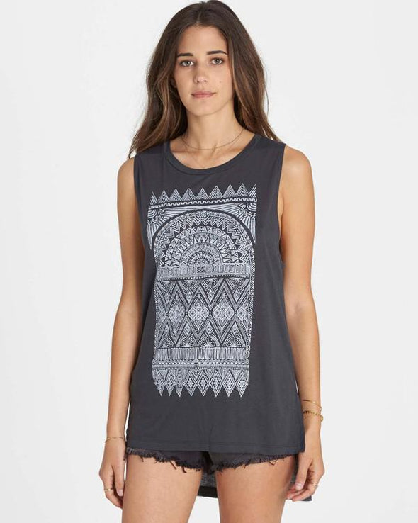 Billabong Womens Woven Tapestry Tank Top J451LWOV - The Smooth Shop