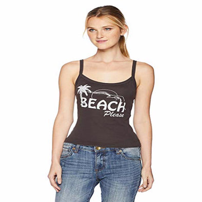 Billabong Womens Beach Please Tank Top J496QBBE, Off Black, M - The Smooth Shop