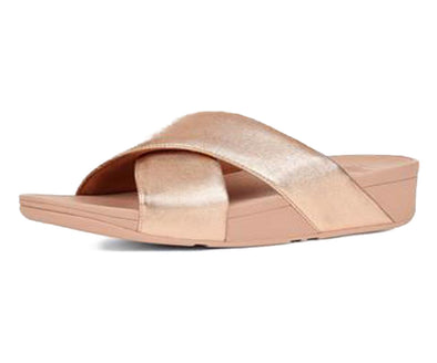 FitFlop Womens Lulu Leather Cross Slide Sandals - The Smooth Shop