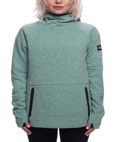686 Womens GLCR Knit Tech Fleece Hoodie - The Smooth Shop