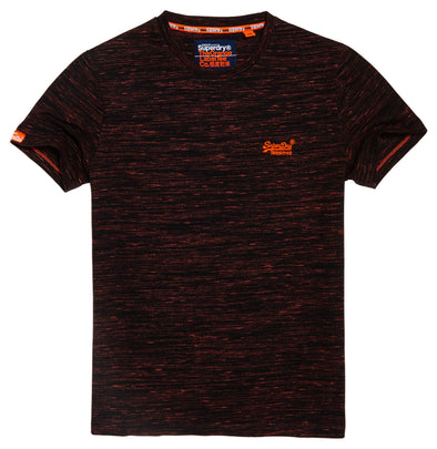 Superdry Mens Orange Label Vintage Embroidery T-Shirt, Jet Jaffa Space Dye, 2XL - The Smooth Shop