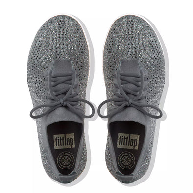 FitFlop Womens F-Sporty Uberknit Crystal Sneakers - The Smooth Shop
