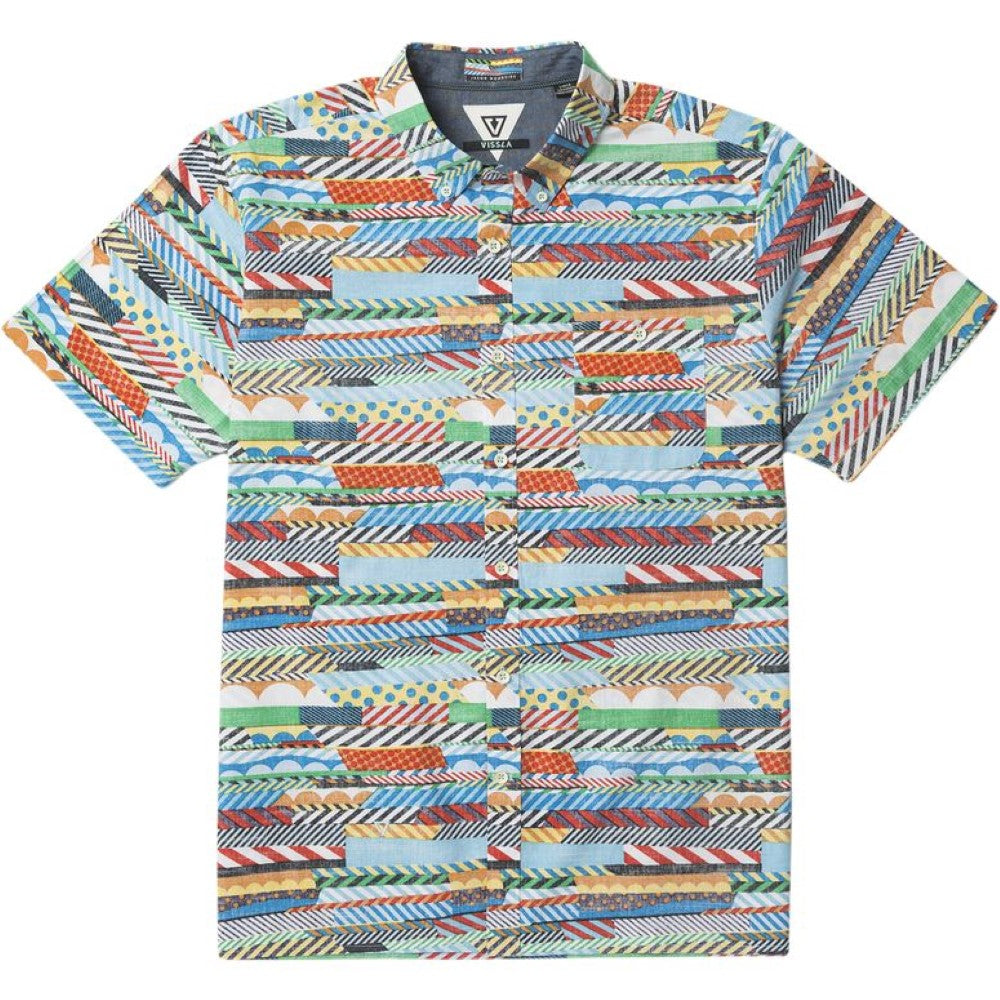 Multi Vissla Mens Woodside Woven Shirt M512CWOO