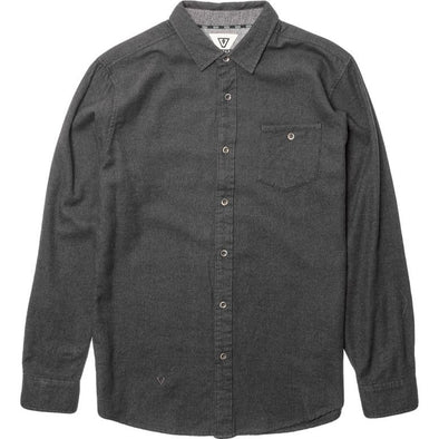 Vissla Mens El Morro Flannel Shirt M513EMOR, Charcoal, S - The Smooth Shop