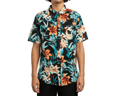 RVCA Mens Montague Floral Button Up Shirt - The Smooth Shop