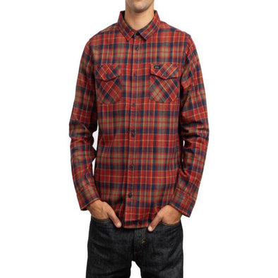 RVCA Mens Watt Plaid Long Sleeve Flannel Shirt - The Smooth Shop