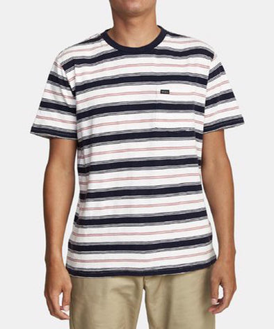 RVCA Mens Davis Stripe T-Shirt - The Smooth Shop