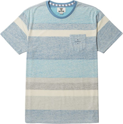 Vissla Mens Washed Out Knit T-Shirt M907CWAS,Blue Fog,XL - The Smooth Shop